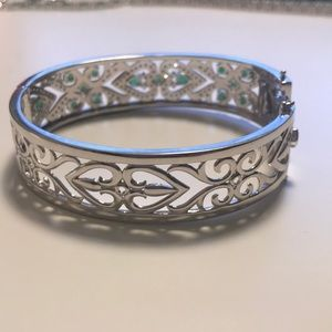 JTV Jewelry - JTV Cubic Zirconia Bangle Bracelet.